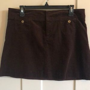Lilly Pulitzer Cocoa Brown fine corduroy skirt 10